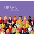 flat of female community with a large group of vector image vector image