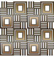 geometric seamless ornament for ceramics vector image vector image