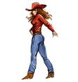 Girl cowgirl 1 vector image