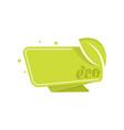 green eco tag vector image vector image