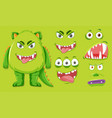 green monster with different facial expression vector image