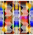 grunge chalk zigzag ethnic style seamless vector image vector image