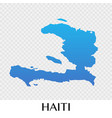 haiti map in north america continent design vector image vector image