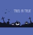 halloween background with pumpkin in grave vector image vector image