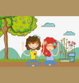 hippie couple at nature vector image vector image