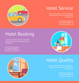 hotel service booking and quality visualization vector image vector image