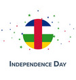 independence day of central african republic vector image vector image