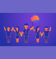 leadership gradient on violet vector image vector image