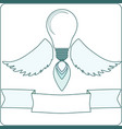 light bulb with angel wings and a flame vector image vector image