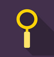 magnifying glass icon flat style for search focus vector image vector image