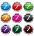 marker pen set 9 collection vector image vector image