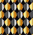 metallic tile background vector image vector image