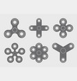 modern spinners set gray icon on white vector image