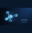 molecule abstract futuristic micro molecule vector image