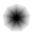Nonagon halftone geometric shapes Dot vector image vector image