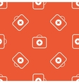 Orange first aid kit pattern vector image