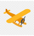 orange plane isometric icon vector image vector image