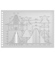 paper art of standard deviation diagrams with samp vector image vector image