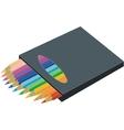Pen set color 3 vector image vector image