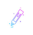 pencil icon design vector image