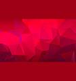 pink red low poly bg for banner vector image