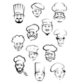 Professional chefs in toques from around the world vector image