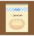 Recipe Book Meat Pie vector image vector image