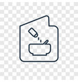 recipe concept linear icon isolated on vector image vector image
