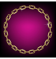 Round gold chain vector image vector image