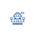 Rural house line icon concept rural house flat