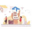saas internet business cloud technology mobile app vector image vector image