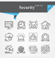 security outline icon set isolated vector image vector image
