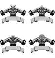 set Design medals symbols vector image vector image