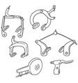set of bicycle brake type vector image vector image