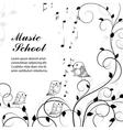 singing birds on branch vector image vector image