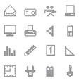 square office and home icon vector image vector image