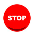 stop button icon flat vector image