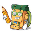 student backpack character cartoon style vector image