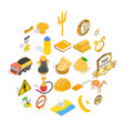 successful person icons set isometric style vector image vector image