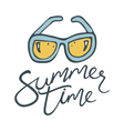 summer time sunglasses vector image vector image