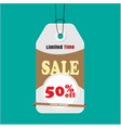tag sale limited time sale 50 off image vector image