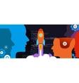 tech start-up technology programming launch rocket vector image vector image