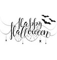 thematic postcard to helloween with unique vector image vector image