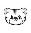 tiger kawaii cartoon vector image