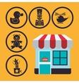 Toy shop design vector image