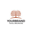 tree logo design concept template vector image