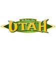 Utah The Beehive State vector image vector image