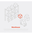 warehouse thin ine design eps 10 icons vector image vector image