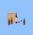 wine and beer vector image vector image
