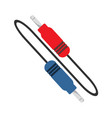 wire jack cable graphic vector image vector image